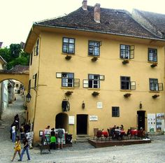 """Born house of Vlad Tepes Dracula in Sighişoara (Transylvania, Romania)where """"Vlad,the impaler"""",was born. The Beautiful Country, Beautiful Places, Great Places, Places To Go, 30 Days Of Night, Dracula Castle, Vlad The Impaler, Travel Around The World, Around The Worlds"""