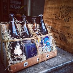 beer gift wrapped