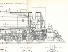 Locomotives Vintage Technical Drawing Engineering Compound