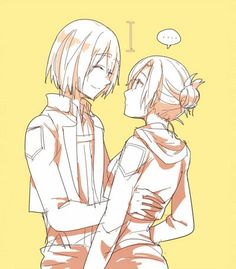 annies pretty short, but then again she is the same age as armin o.e she seems older
