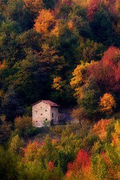 Autunno in Piemonte, Italy Cuneo monregalese