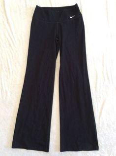 Nike Drifit Pants Small Womens Yoga Black Cotton Blend Stretch Fitness Run #Nike #PantsTightsLeggings