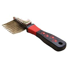 Wildgirl Pet Dematting Comb Shedding Brush Red Paw Print Pattern Grooming Comb for Dog  Cat *** Details can be found by clicking on the image. (Note:Amazon affiliate link) #DogGrooming