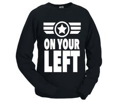 """Captain America """"On Your Left"""" Unisex Sweatshirt by Lexi's Loft"""