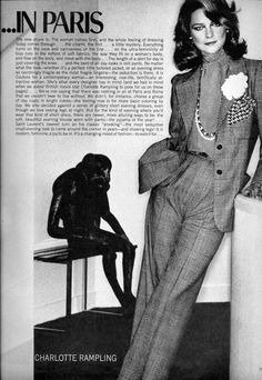 Vogue Editorial March 1974 - Charlotte Rampling by Helmut Newton