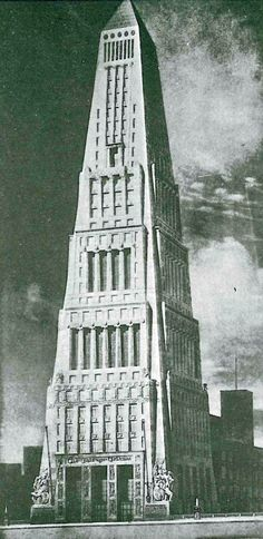Tribune Tower Competition entry, Alfred Fellheimer, Chicago, 1923