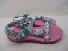 official photos eaebb c588b Unisex Shoes · new CAT   JACK Sandals Girls Size 2 Casual Water Ankle Strap  Teal Pink