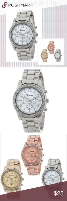 ⌚️ Gorgeous Fashion Bling Wrist Watch ⌚️ ⌚️ Gorgeous Fashion Bling Wrist Watch ⌚️ Silver Covered in Bling ⌚️ Also available in Rose Gold. Accessories Watches