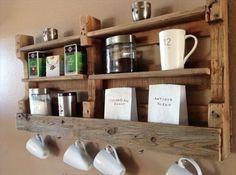 Creative and Traditional Pallet ideas. Pallet Kitchen Storage Shelves. – Wooden Pallet Furniture