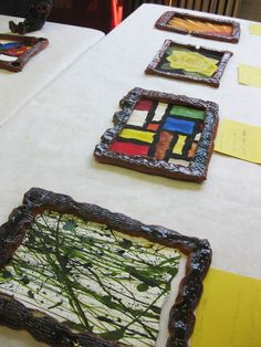 clay frames for works of art - great idea! Leads to a great blog on clay :)