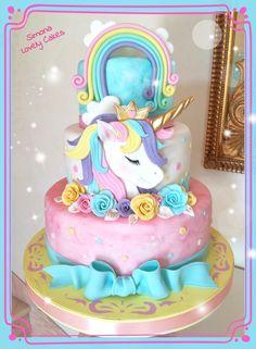 Unicorn Cake by Simona Lovely Cakes - Torten - Pastel de Tortilla Unicorn Themed Birthday, Birthday Cake Girls, Bolo Fack, Unicorn Foods, Unicorn Cakes, Girl Cakes, Savoury Cake, Cute Cakes, Creative Cakes