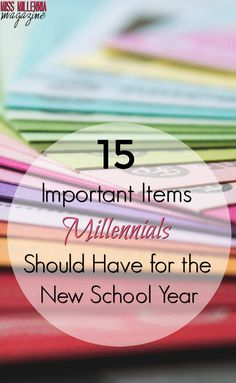 15 Important Items Millennials Should Have for the New School Year College Success, College Hacks, School Hacks, College Life, The New School, New School Year, Back To School, College Organization, Study Skills