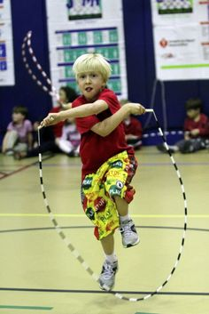 Jump Rope For Heart. We love this one! This event has raised $61,500,000 for the American Heart Association.