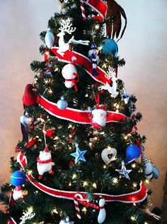 Red, White and Blue Christmas Tree