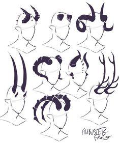 cheatsheet horn part tiefling – binde horn cheatsheet teil 2 (teil ti … - fantasyart Drawing Techniques, Drawing Tips, Drawing Sketches, Drawing Ideas, Anime Drawing Tutorials, Art Drawings Easy, Sketch Ink, Body Sketches, Drawing Stuff
