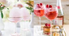 Become everyone's best friend when you make these raspberry sorbet pink Champagne floats. To make the recipe, all you need is raspberry sorbet, pink Champagne, Valentinstag Party, Mimosas, Wine Ice Cream, Valentine's Day Drinks, Beverages, Fancy Drinks, Cake Mug, Coconut Frosting, Chocolate Bourbon