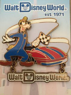Tomorrowland Speedway Walt Disney World Goofy Pin