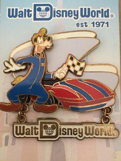 Tomorrowland Speedway Walt Disney World Goofy Pin