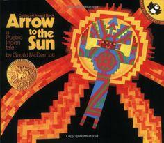 Arrow to the Sun: A Pueblo Indian Tale by Gerald McDermott,http://www.amazon.com/dp/0140502114/ref=cm_sw_r_pi_dp_sjThsb0YPN5DHEGD