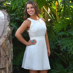 the perfect white dress. so classy! Mollies Boutique