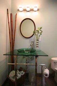"bamboo shower curtain ""bamboo"" nature,green,yellow, bathroom, home"
