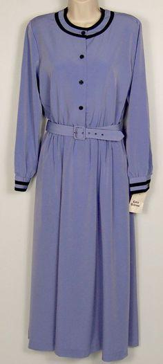 Willow Ridge Dress Womens Size 8 Long Sleeve Modest Below Knee Dressy Church #WillowRidge #ShirtDress #WeartoWork