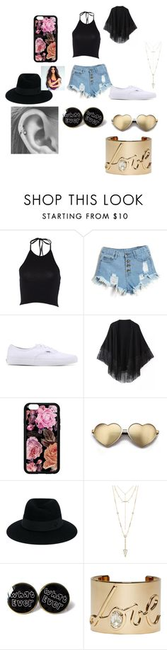 """""""nessie"""" by sarahgale98 ❤ liked on Polyvore featuring Vans, Relaxfeel, Wildfox, Maison Michel, House of Harlow 1960 and Lanvin"""
