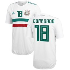 1bc43307a98 Andres Guardado Mexico National Team adidas 2018 Away Authentic Player  Jersey – White Green