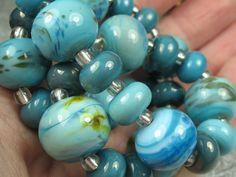 Into the Fire Lampwork Art Beads ~Altered Skies~ Artist handmade glass beads SRA #Lampwork