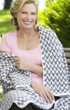 Häkelmuster für Decke mit Zick- Zack-Muster