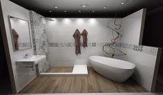 Obklady a dlažby ve stylu patchworku | SIKO KOUPELNY Bathtub, Bathroom, Design, Scrappy Quilts, Houses, Standing Bath, Bath Room, Bath Tub, Bathrooms