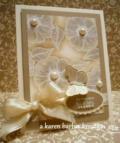 handmade card ... lovely neutrals ... emboss resist technique ... kraft ... gorgeous ... Stampin' Up!