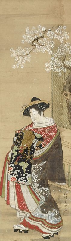 A beauty [Bijin], (18th century-19th century) by Utagawa TOYOHARU :: The Collection :: Art Gallery NSW