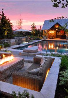 Resort style backyard. Gorgeous!  www.findinghomesinhenderson.com Nevada Desert Realty