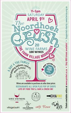 The Noordhoek Crush April Door Price, Family Day, Wines, South Africa, Events, Happenings