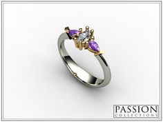 Two Tone (White -Yellow) 1 Marquise 2 Total Weight of Stones Custom Jewelry, Sapphire, Amethysts, Diamond, Wedding Bride, Rings, Gold, Stones, Passion