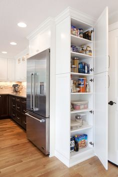 Inspiring buy kitchen pantry cabinet tips for 2019 Along with every one of the time spent in your cooking area throughout the year, its own typically a terrific concept to check out impressive cooking area cupboard suggestions to produce the greate… Small Kitchen Pantry, Kitchen Pantry Design, Kitchen Pantry Cabinets, Kitchen Redo, Kitchen Layout, Home Decor Kitchen, Kitchen Furniture, Kitchen Interior, Kitchen Storage