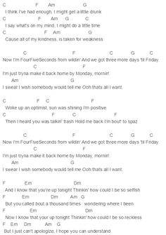 Capo 2 FourFiveSeconds Chords Kanye West, Paul McCartney, Rihanna