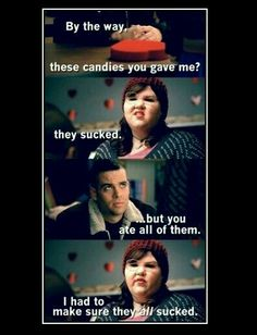Lol you just have to love glee! Glee Memes, Glee Quotes, Scandal Quotes, Scandal Abc, Best Tv Shows, Best Shows Ever, Me On Valentines Day, Valentine Party, Citations Film