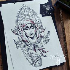 Mystic Nun Drawing 4 – The Order Custom Tattoos