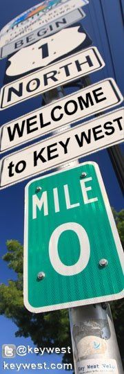 The iconic corner of MM 0 - Key West #MarriottCourtyardKeyWest #DreamKeyWestVacation