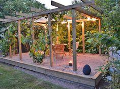 Pergola Garden, Garden Pool, Diy Pergola, Backyard, Porches, Forest Garden, Small Garden Design, Garden Inspiration, Exterior Design
