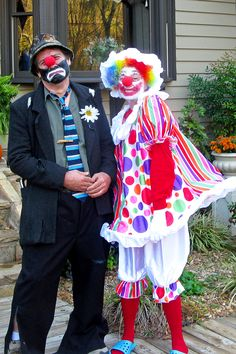 My husband and I...Emmett Kelley and Daisy the dancing clown on Halloween...got the streets of Cumberland Gap dancing!