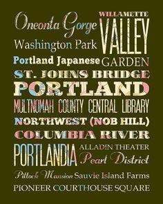 Typography for Portland
