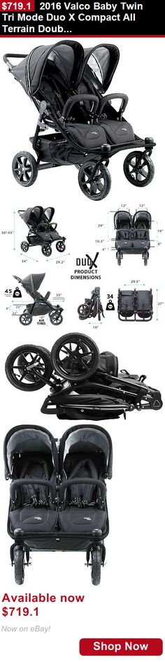 Other Baby Safety and Health: 2016 Valco Baby Twin Tri Mode Duo X Compact All Terrain Double Stroller Night BUY IT NOW ONLY: $719.1