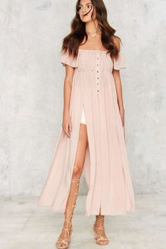 Cut About Us Maxi Top - Blush | Shop Clothes at Nasty Gal!