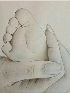 22 Ideas For Baby Drawing Sketches Mom Baby Drawing, Drawing Hands, Painting & Drawing, Crayon Painting, Drawing Drawing, Pencil Art Drawings, Cute Drawings, Pencil Sketching, Drawing Sketches
