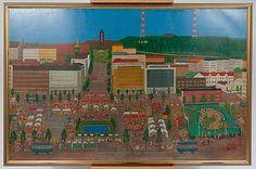 Thelma Salo: Lahden syysmarkkinat, 1973, öljy kankaalle, 104x161 cm - Bukowskis Market 2013