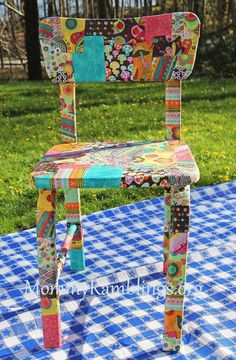decoupage chair for Jacob story