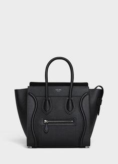 e44858dc3c28 Micro Luggage handbag in drummed calfskin